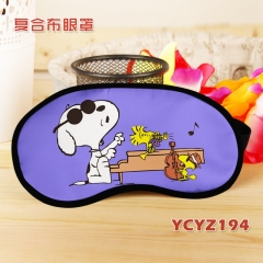 Snoopy Color Printing Cartoon Composite Cloth Anime Eyepatch