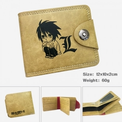 Death Note Cartoon PU Purse Bi-fold Snap-fastener Anime Leather Wallet 60g