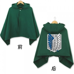 Attack on Titan Marks Black Green Cosplay Cloak Fashion Anime Costume