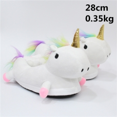 Japanese Unicorn Cartoon Cute Soft Kids Plush Slipper