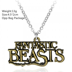 Fantastic Beasts and Where to Find Them Alloy Anime Necklace Set