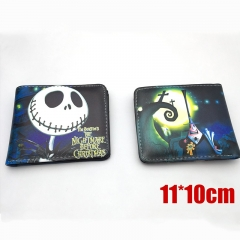 Nightmare Before Christmas Cartoon Purse Hot Sale Anime PU Leather Short Wallet