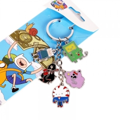 Adventure Time Decorative Cosplay Pendant Cartoon Anime Keychain