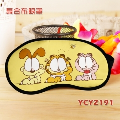 Garfield Color Printing Cartoon Composite Cloth Anime Eyepatch
