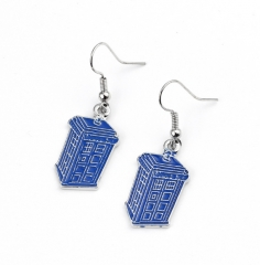 Doctor Who Alloy Blue Anime Earring(10pcs/set)