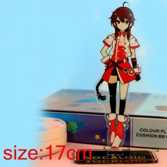 Vocaloid Yuezheng Ling Cartoon Acrylic Model Figure Double Side Printed Anime Standing Plates 17cm