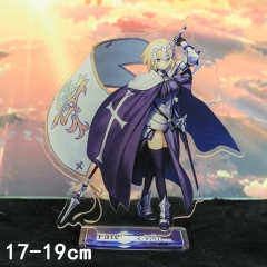 Fate Stay Night Jeanne d'Arc Cartoon Toys Double Side Printed Anime Standing Plates Acrylic Figure