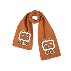 Bilibili Print Little TV Orange Long Warm Anime Scarf