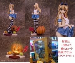 Misaki Kurehito Alice With Light Pumpkin Anime Cute Cartoon PVC Figure