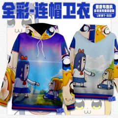 Pop Team Epic Cosplay Cartoon Healthy Fabric Anime Hoodie (S-3XL)