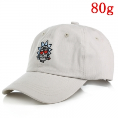 Rick and Morty Classic Cartoon Rick Sanchez Design Cool White Anime Cap 80g