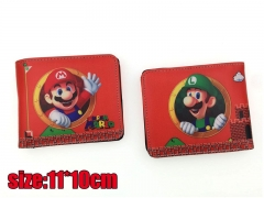 Super Mario Bros. Game PU Leather Fancy Cheap Wallet