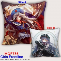 Girls Frontline Cool Style Fashion Comfortable Two Sides Square Anime Pillow 45*45CM
