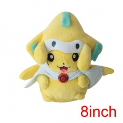 Pokemon Pikachu Cos Jirachi Cartoon Doll Japanese Anime Plush Toys 8Inch