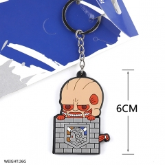Attack on Titan Cosplay Soft Plastic Hoover Pendant Anime Keychain
