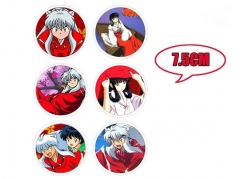 Japanese Cartoon Inuyasha Anime Fancy Pins Set