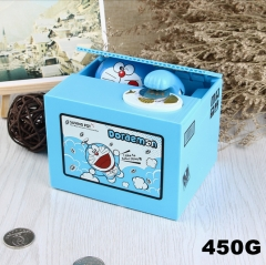 Doraemon Funny Stealing Money With Music Toy For Kid Anime Money Pot