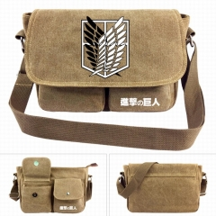 Attack on Titan/Shingeki No Kyojin Cartoon Crossbody Bags High Quality Anime Canvas Single-shoulder Bag