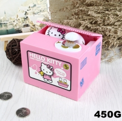 Hello Kitty Funny Stealing Money With Music Toy For Kid Anime Money Pot