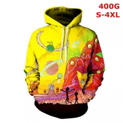 Rick and Morty Cosplay Cartoon 3D Color Printing Anime Hoodie