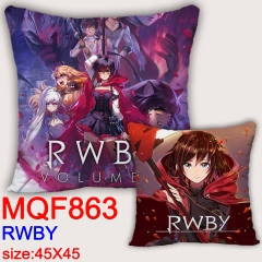 RWBY Cartoon Soft Fancy Colorful Stuffed Square Pillow