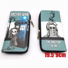 Doctor Who Cartoon Purse Wholesale Anime PU Leather Long Wallet