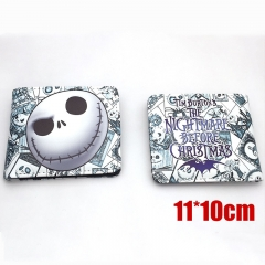 Nightmare Before Christmas Cartoon Purse Wholesale Jack Anime PU Leather Short Wallet