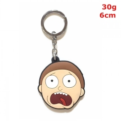 Rick and Morty Cosplay Cartoon Soft Plastic Pendant Anime Keychain