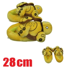 League of Legends Cartoon Yellow LOL Warm Anime Plush Slippers 28CM