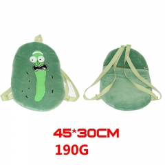 Rick and Morty Pickle Cucumber Cartoon Stuffed Bag Anime Plush Backpack 45*30cm 190g