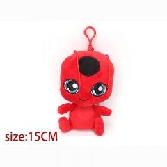 Miraculous Ladybug Red Cartoon Stuffed Doll Anime Plush Keychain 15cm