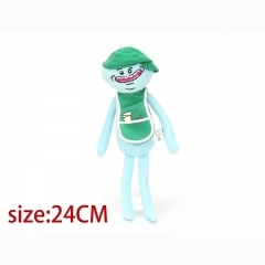 Rick and Morty Mr Meeseeks with Green Hat Cartoon Stuffed Doll Cute Anime Plush Toys 24cm