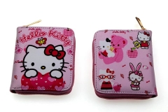 Hello Kitty Anime PU Leather Pink Cute Wallet