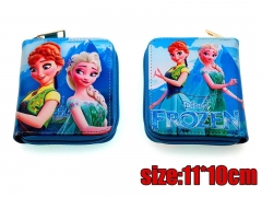 Frozen Movie Elsa PU Leather Anime Cartoon Wallet