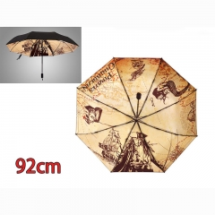 Pirates of the Caribbean Cartoon Color Printed Wholesale Anime Umbrella