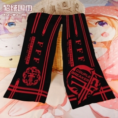 FFF Cosplay Colorful Mink Velvet Material Anime Scarf