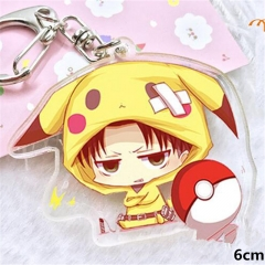 Shingeki no Kyojin  Attack on Titan Anime Levi·Ackerman Acrylic Keychain
