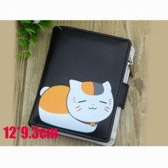 Natsume Yuujinchou Cartoon Purse Wholesale Anime PU Leather Short Wallet