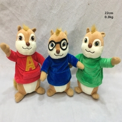 Alvin and the Chipmunks Anime Cute Animal Plush Toys 3pcs/set