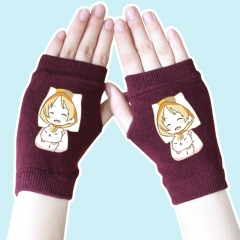 Natsume Yuujinchou Cute Wine Color Anime Knitted Gloves 14*8CM