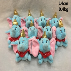 Disney Anime Cute Dumbo Elephant Plush Kids Pendant 10pcs/set