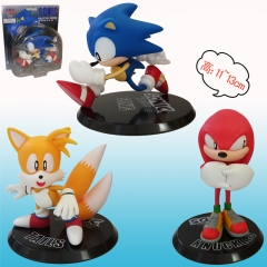 Sonic Cartoon Toys Cute Designs Wholesale Anime Figure Set Of 3