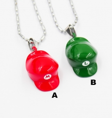 Super Mario Bro. Cosplay Cartoon Pendant Anime Necklace