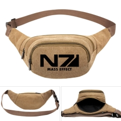 Mass Effect Cosplay For Boys Portable Anime Canvas Waist Bag