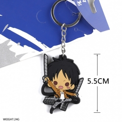 Attack on Titan Cosplay Soft Plastic Jaeger Pendant Anime Keychain