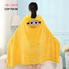 Despicable Me Minions Cartoon Shawl Wholesale Anime Cute Blanket 150*70cm