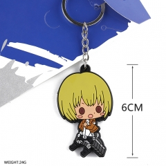 Attack on Titan Cosplay Soft Plastic Arlart Pendant Anime Keychain