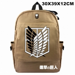 Attack on Titan For Student Cosplay Canvas Anime Backpack Bag