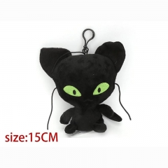 Miraculous Ladybug Black Cat Noir Cartoon Stuffed Doll Anime Plush Keychain 15cm