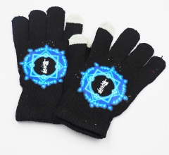 Onmyouji Cartoon Wholesale Black Cosplay Anime Gloves for Winter